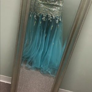 Turquoise with metallic Dress